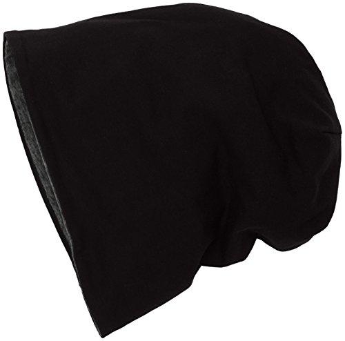 MSTRDS Jersey Beanie Reversible, Berretti a Maglia Donna, Mehrfarbig (Black/ht.Charcoal 10377,3887), Taglia Unica (Taglia Unica)