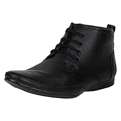 33d8da2900bd Emosis Men s Stylish 0131 Tan Brown Black Colour Office Party Wear Formal  Lace-Up Derby Boot Shoe  Buy Online at Low Prices in India - Amazon.in