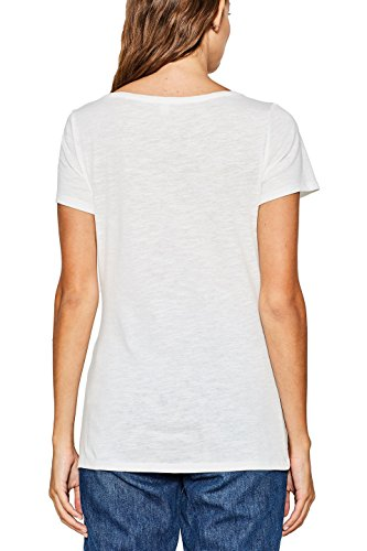 ESPRIT Damen T-Shirt Weiß (Off White 2 111)