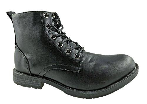 Liberto Botas Militares Hombre, Color Negro, Talla 42 EU