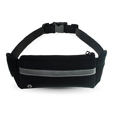 Sport Hüfttasche,Refoss Laufgürtel elastische Gürteltasche Bauchtasche Running Belt mit Kopfhöreranlass