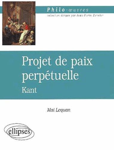 Projet de paix perptuelle, Kant