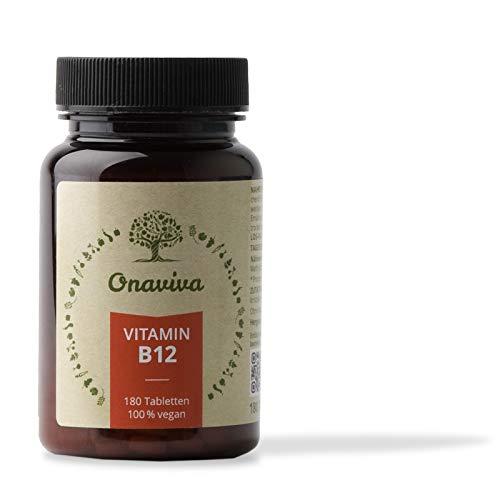 Vitamin B12 Vegan   hochdosiert 1000 µg   180 Tabletten   Reines B 12 Methyl-Cobalamin   Geprüfte Qualität aus Deutschland