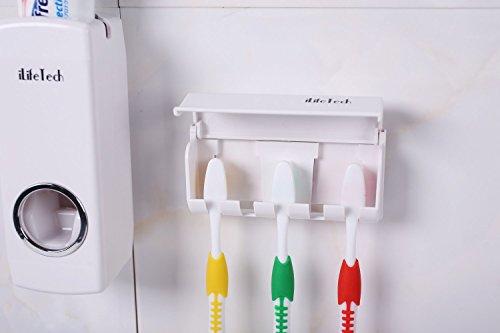 confronta il prezzo iLifeTech - Dispenser automatico per dentifricio e set porta-spazzolini, non impegna le mani miglior prezzo