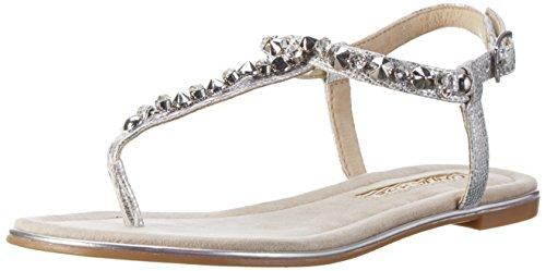 Buffalo Shoes Damen 14BU0155-6 PU Zehentrenner, Silber (Silver), 42 EU - 6 Buffalo