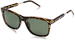 Polaroid Polarized Square Mens Sunglasses - (PLD 2034/S NHO 53RC 53 Green Color)