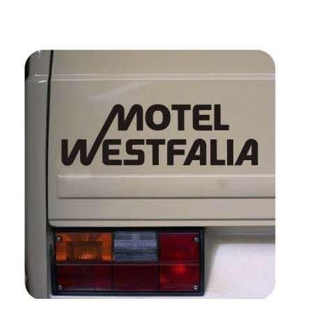 """Motel Westfalia Aufkleber Sticker 30 cm WOMO Aufkleber von myrockshirt®ohne Hintergrund, UV und Waschanlagenfest, hochwertig geplottet, Decal, Sticker,Tuning,für Lack,Scheibe,Laptop und alle glatten Oberflächen `+ Bonus Testaufkleber """"Estrellina-Glückstern®"""