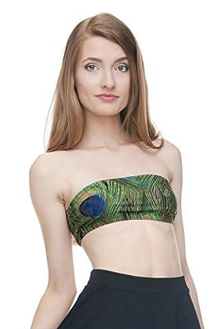 Funny Tops Company© Printed Tube Top Bikini Sport Top 3D