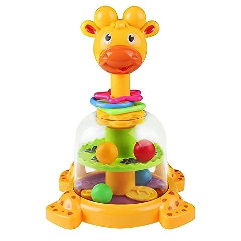 Toupie Girafe avec Boules Colorées Jouet D