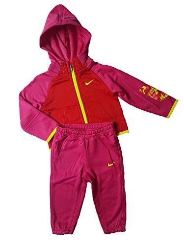 Nike Kinderanzug Dri-Fit Kids Jacke und Hose (18-24 Monate, Pink/Rosa)
