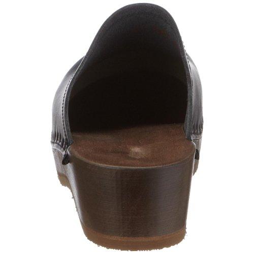 Berkemann Natur-Toeffler Unisex-Erwachsene Clogs Schwarz (Schwarz)