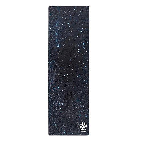 Yogi Bare Teddy Esterilla de yoga híbrida y ecológica - Antideslizante, de caucho natural y con superficie de microfibra - Cosmic