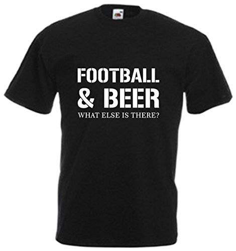 Football-And-Beer-T-Shirt-Cool-Tee-Sports-Pub-Drink-Alcohol-Xmas-Birthday-Gift