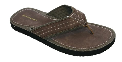 Dunlop Mens Brown Flip Flop Sandal Pool Shoes Size 6 - 11...