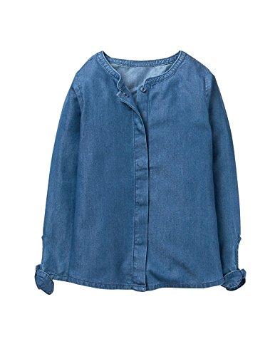 Crazy 8 Girl's Long Sleeve Chambray Woven Shirt