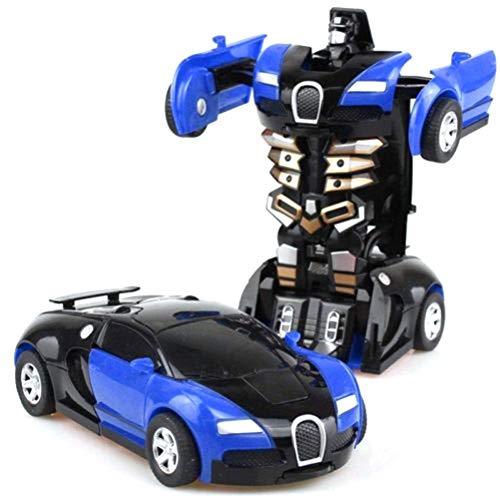 Roboter Roboter-Auto Roboterauto Transformers Kinder Spielzeug für Jungen-Geburtstag Spielzeug Geschenk Transformation Roboter(Blau) ()