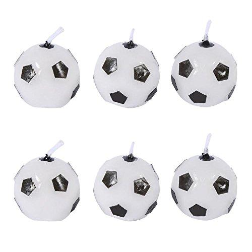 GLOGLOW 6pcs carino pallone da calcio calcio festa di compleanno torta candele forniture sport e hobby decorazioni strumento per i bambini