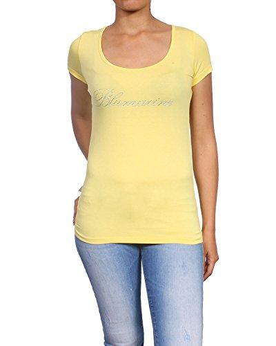 blumarine-q49-t-shirt-maniche-corte-mujer-amarillo-602c-44