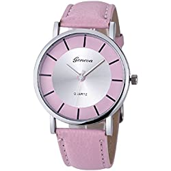 Mallon® Women Retro Dial Analog Quartz Wrist Watch Pink