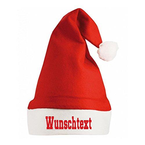 Smart Personalisierte Nikolausmütze,Weihnachtsmann, Zipfelmütze mit DEINEM EIGENEN Text (Rot) (Einfache Ork Kostüm)