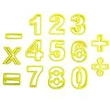 Kunststoff Ausstecher Mathematik 0-9 Sonderzeichen Ausstechformen von Kurtzy TM