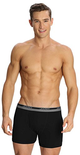 Jockey Men's Cotton Boxer Brief (8009_X-Large_Black)