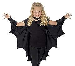 Idea Regalo - Smiffy's 44414 - Vampire Bat Ali Nere, Taglia Unica