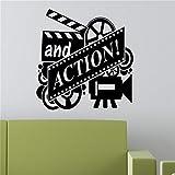 adesivo murale adesivo murale 3d bambini Direttore Silhouette Cute Pattern With E Action Quotes Home Room Decor Divertente