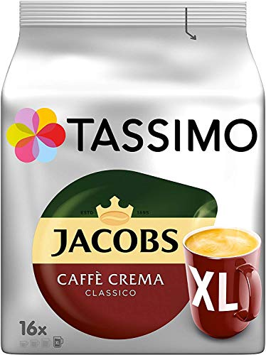 Tassimo Jacobs Caffè Crema Classico XL - 5 Paquetes 80 Porciones