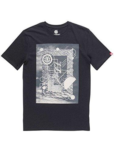 Element Herren Printshirt Flint Black