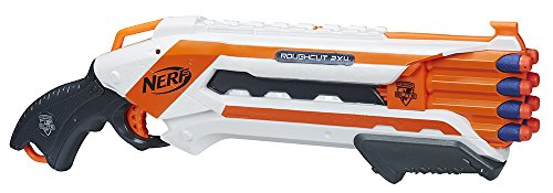 Nerf - Lanzadardos Rough Cut Elite, multicolor (Hasbro A1691E35)