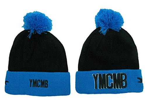 YMCMB Beanie hüte / Mützen(schwarz mit schwarz Logo, Stil-2)