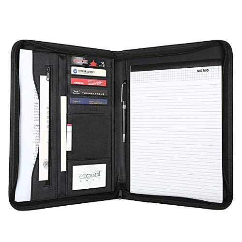 Leathario-Portfolio A4 en cuir PU, porte document,...