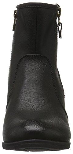 Tom Tailor 8599902, Bottes courtes avec doublure chaude femme Noir - Noir