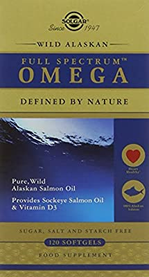 Solgar Full Spectrum Wild Alaskan Omega Softgels - Pack of 120 by Solgar