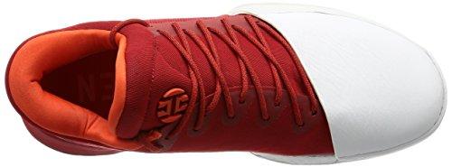I Signori Adidas Curano In Pieno. 1 Baseball Schuhe, Putrefazione, 44 Eu Rosso (escarl / Ftwbla / Energi)