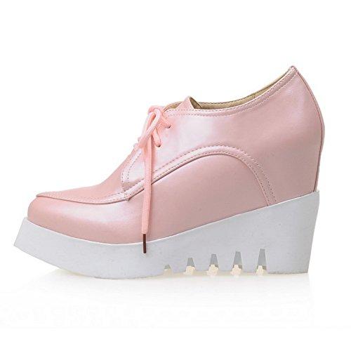 Adee Mesdames accentuer les à l'intérieur en microfibre Pompes Chaussures Rose - rose