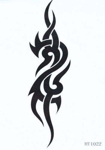 GGSELL Tatouage autocollants unisexe imperméable totem noir