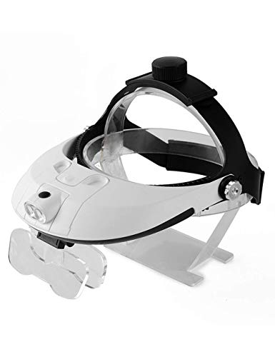 Jackson Wang Lupe verschreibungspflichtige Glaslupe, Bi-Augen-Chirurgie microHD, mit LED-Leuchten, ältere Reparatur