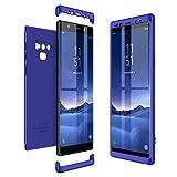 CE-Link Samsung Galaxy Note 9 Hülle Hardcase 3 in 1 Handyhülle 360 Grad Schutz Full Body Case Cover Schutzhülle Hart PC Bumper - Blau