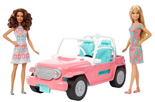 Barbie FPR59 - Geländefahrzeug Cruiser Auto und zwei Puppen, Puppen und Puppenzubehör ab 3 Jahren (Auto Puppen Barbie Mit)