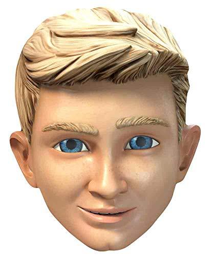 ffizielle ITV Thunderbirds Party Alan Tracy 1 x Papp-Maske für das ganze Gesicht und Kostüm, inklusive Schlaufen und Gummiband, mehrfarbig ()