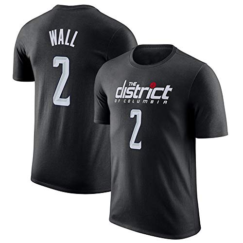 T-Shirt Herren NBA Washington Wizards John Wall Lose Atmungsaktive Bewegung Halbe Freizeit Lose Ärmel B-XXXL