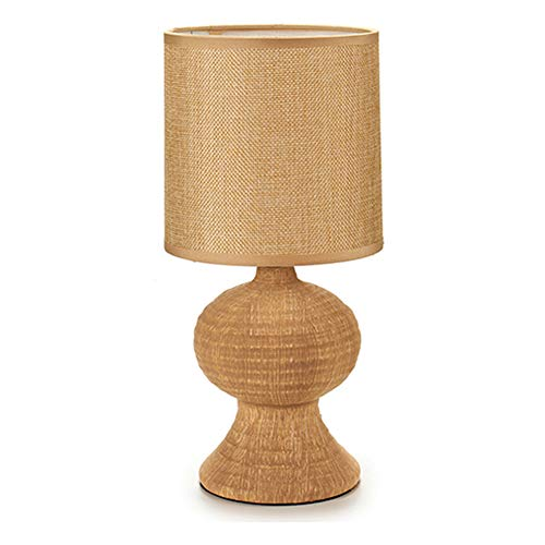 takestop® Lampe aus Stoff, Design Kanapa, Holz, 2 Stück, E27 für Comode, Tisch und Schlafzimmer, tragbar, modernes Design -