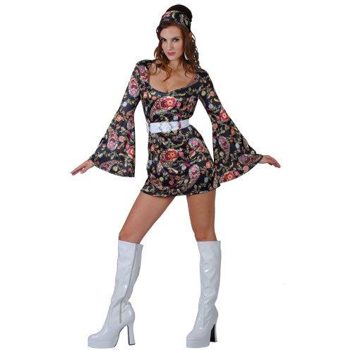 60er Retro Go Go Girl Minikleid Verkleidungsparty Karneval Halloween Kostüm (Go Go Girl Halloween-kostüm)