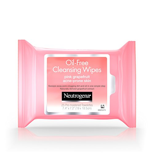 Pore Cleansing Wipes (Neutrogena Oil Free Pink Grapefruit Cleansing Wipes - Reinigungstücher 25 Stück - aus USA)