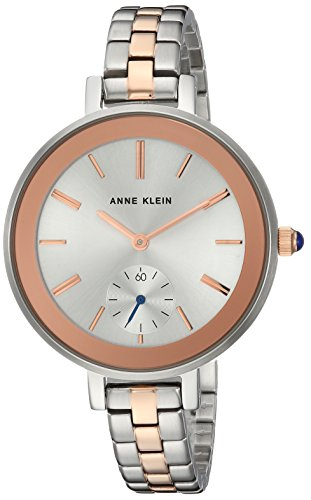 Anne Klein Women's AK/2991SVRT Rose Gold-Tone and Silver-Tone Bracelet Watch