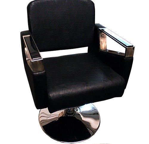 Sedia da salone di parrucchiere, colore nero, sedia in stile alla moda, salone barbiere, 9997