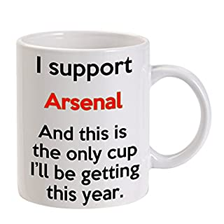 ARSENAL MUG - GREAT FUUNY GIFT FOR A SUPPORTER - 11 OZ SIZE - MACHINE WASHABLE