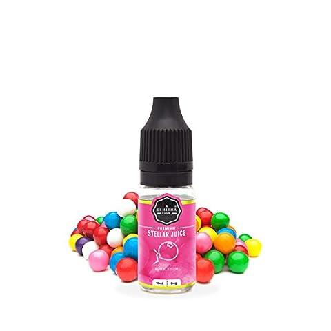 KNUQO STELLAR Juice 10ml - Kaugummi-Geschmack   e-Zigarette   Wiederaufladbare Elektronische Zigarette Liquid   Nikotinfrei   e Shisha   eShisha Club
